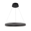 Voyager 1 Light LED Pendant 3000K in Black