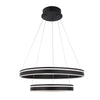 Voyager 2 Light LED Pendant 3000K in Black