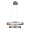 Voyager 2 Light LED Pendant 3000K in Satin Nickel