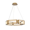 Mies 29in LED Chandelier 3000K in Aged Brass