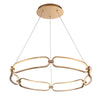 Charmed 32in LED Chandelier 3000K in Soft Gold