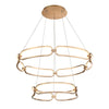 Charmed 34in LED Two-Tier Chandelier 3000K in Soft Gold