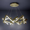 Chaos 24in LED Round Chandelier 3000K in Aged Brass