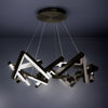 Chaos 24in LED Round Chandelier 3000K in Black