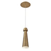 Future 12in LED Mini Pendant 3000K in Aged Brass