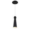 Future 12in LED Mini Pendant 3000K in Black