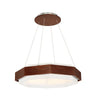 Koolhaus LED Pendant 3000K in Dark Walnut