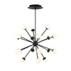 Bossa Nova 18 Light LED Pendant 3000K in Black