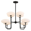 Crystorama PKR-B8508-BF Parker 8 Light Black Forged Chandelier