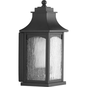 Maison Black One-Light Small Wall Lantern in Black Finish by Progress Lighting P6634-31CD