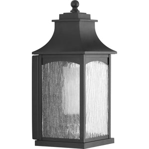 Maison Black One-Light Medium Wall Lantern in Black Finish by Progress Lighting P6635-31CD