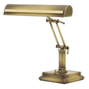 "14"" Piano Desk Lamp with Strap Motif"