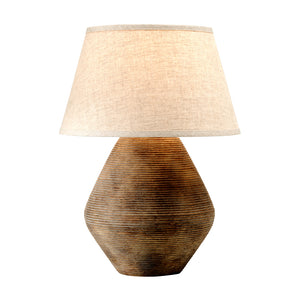 Calabria 1 Light Table Lamp By Troy PTL1011 in Rustco Finish