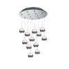 Genesis LED 12 Light Pendant with Mirror Canopy