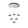 Genesis LED 6 Light Pendant with Mirror Canopy