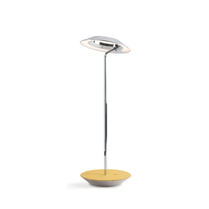 Royyo Desk Lamp, Chrome body, Honeydew Felt base plate RYO-SW-CRM-HDF-DSK
