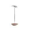 Royyo Desk Lamp, Chrome body, Oiled Walnut base plate RYO-SW-CRM-OWT-DSK