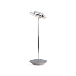 Royyo Desk Lamp, Chrome body, Oxford Felt base plate RYO-SW-CRM-OXF-DSK