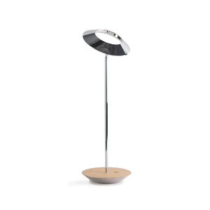 Royyo Desk Lamp, Chrome body, White Oak base plate RYO-SW-CRM-WOK-DSK