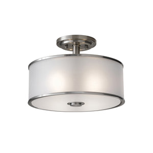 Casual Luxury 2 Light Ceiling Light in Brushed Steel Finish by Sea Gull SF251BS