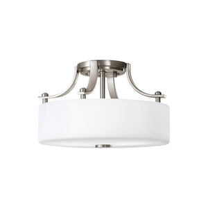 Sunset Drive 2 Light Ceiling Light in Brushed Steel Finish by Sea Gull SF259BS