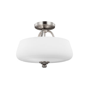 Vintner 3 Light Ceiling Light in Satin Nickel Finish by Sea Gull SF317SN