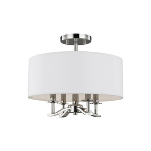 Hewitt 4 Light Ceiling Light in Polished Nickel Finish by Sea Gull SF349PN
