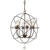 Crystorama SOL-9326-EB Solaris Outdoor 6 Light Bronze Sphere Chandelier