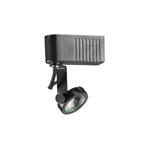 PLC Lighting TR10 BK Gimbal-12v. 1 Light Track Fixture in Black Finish