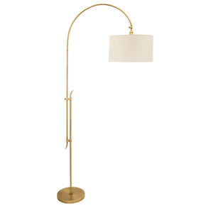 "84"" Windsor Adjustable Floor Lamp in Antique Brass"