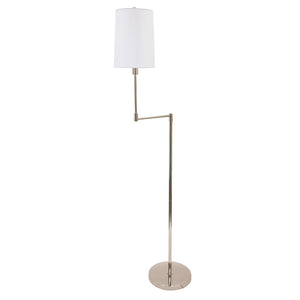 Wolcott Swing Arm Floor Lamp in Polished Nickel