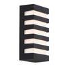 Folsom 10in LED Outdoor Wall Light 3000K in Black