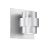 Barrel 5in LED Indoor & Outdoor Wall Light 3000K in Brushed Aluminum