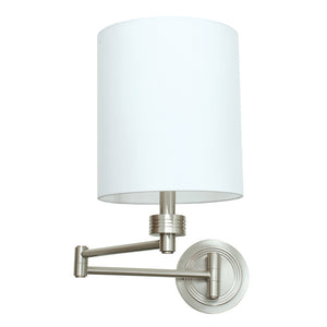 Wall Swing Arm Lamp in Satin Nickel