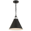 Crystorama XAV-B8301-MK Xavier 1 Light Matte Black Pendant