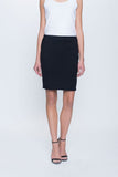 Ponte Straight Skirt in black by Picadilly Canada
