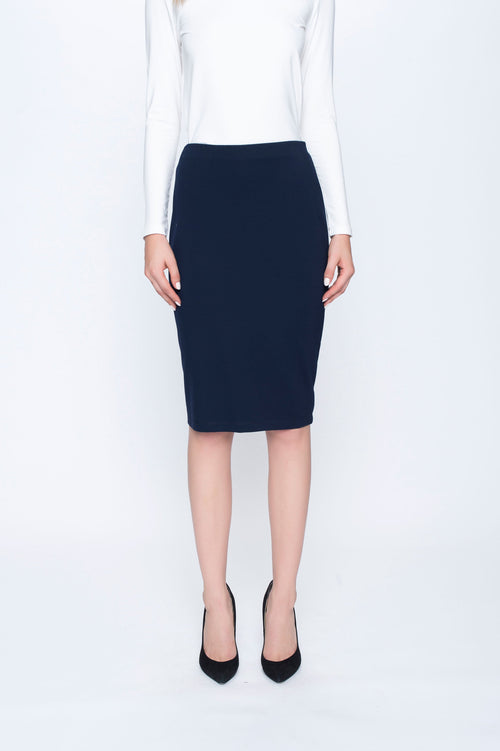 Pencil Skirt in deep navy by picadilly canada
