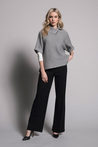 full outfit with black wide leg pants by picadilly