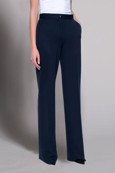 deep navy wide leg pants by picadilly