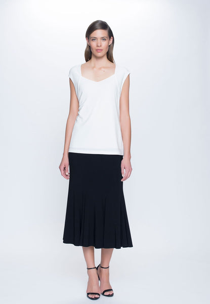 outfit featuring Sweetheart Neckline Top in white by Picadilly Canada