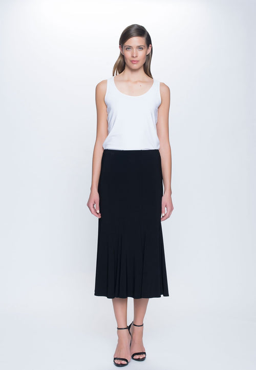Pull-On Flare Skirt in black by Picadilly Canada