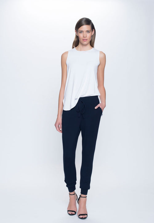 Drawstring Pant in deep navy by Picadilly canada
