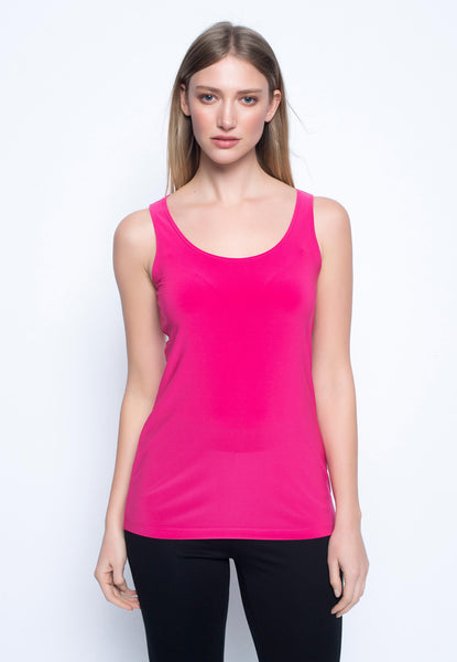 Scoop Neck Tank in hot pink by Picadilly canada