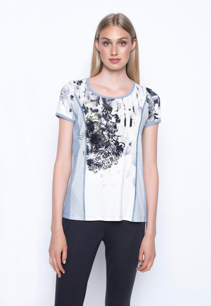 Contrast Trimmed Short Sleeve Top