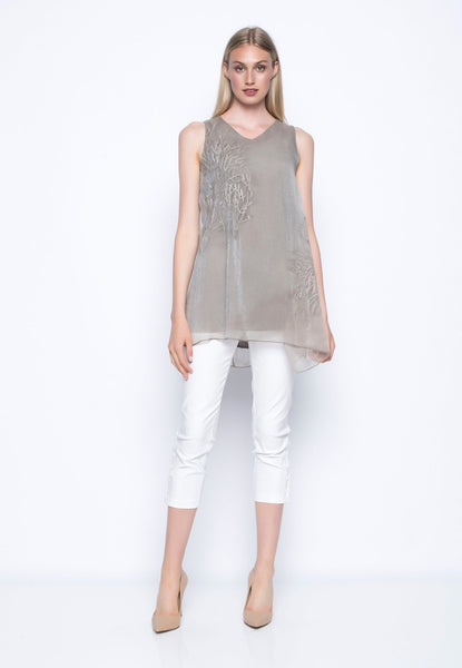 Sleeveless Embellished Top