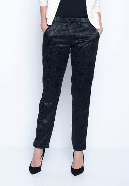 Side-Trim Drawstring Pants