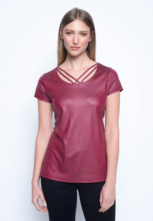 Short Sleeve Top With Strap Detail