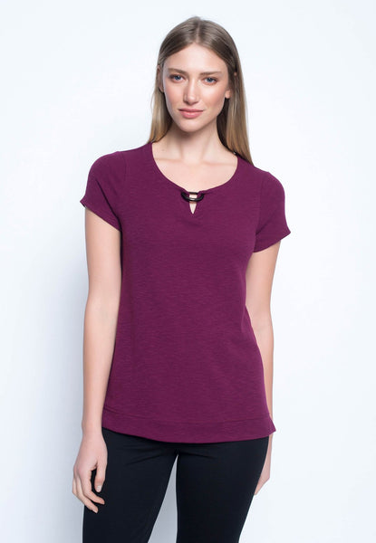 ¾ Sleeve Top With D-Ring