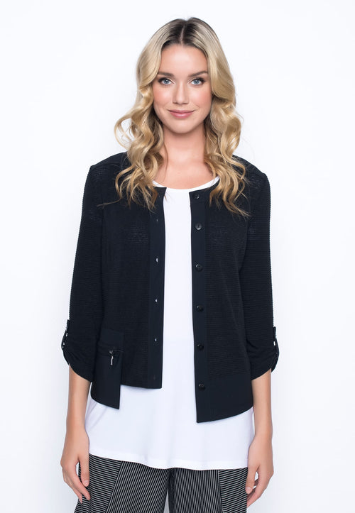 Flared Asymmetric Cropped Jacket by Picadilly Canada