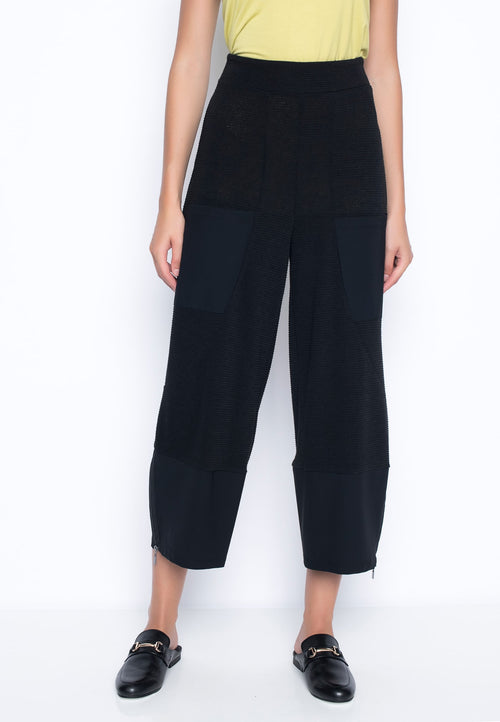 Contrast Trim Wide-Leg Cropped Pants By Picadilly Canada